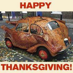 Happy Thanksgiving from Mossy Fiat! Turkey ART CAR courtesy of Worth1000.com. #Thanksgiving #turkey #family #friends