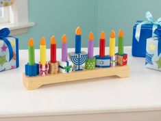 Get the kids involved with Hanukkah with baby's first menorah!