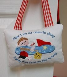 Now I Lay Me Down To Sleep Pillow, Baseball - 5x7 | Baseball | Machine Embroidery Designs | SWAKembroidery.com Oma's Place