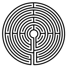 Labyrinth tattoo - for self-meditation, symbolizing a pilgrimage or journey with God at the center