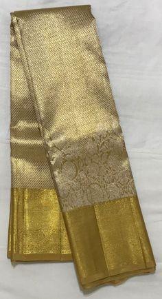 Gold Silk Saree, Bridal Silk Saree, South Indian Wedding Saree, Indian Wedding Wear, Kanjivaram Sarees Silk, Kanchipuram Saree, Pattu Sarees Wedding, Golden Saree, Saree Jewellery