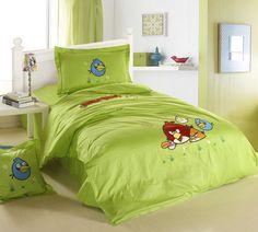 Angry Birds Applique Bedding 4 Pieces