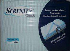[confezione/30 pz] TRAVERSA ASSORBENTE SERENITY CLASSIC MONOUSO 80x180  Traversa assorbente Serenity Classic 80x180 da 15 pz.10,73€  https://www.medistock.it/ausili-per-disabili/-confezione-30-pz-serenity-classic-traversa-monouso-80x180.html?id_product_attribute=0