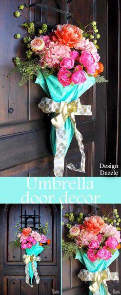 Umbrella Spring Door Decor