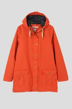 Orange vintage fisherman oilskin stylee jacket by Seasalt