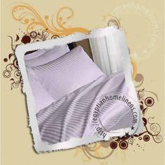Sheet Set Stripe Lavender 1000-TC Egyptian Cotton FREE Shipping
