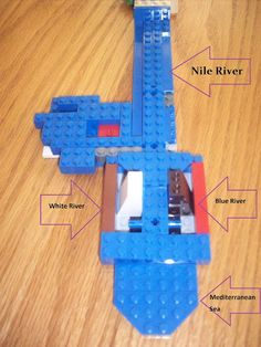 Lego model of the Nile River.
