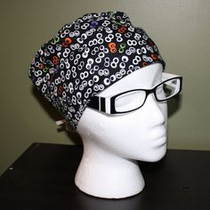 Eyeball Surgical Scrub Hat by FourEyedCreations on Etsy, $15.00