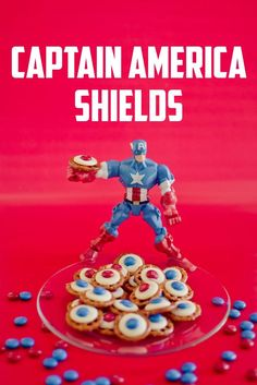 Your little superheroes will love these Captain America Shields! Have them ready for an afternoon treat!
