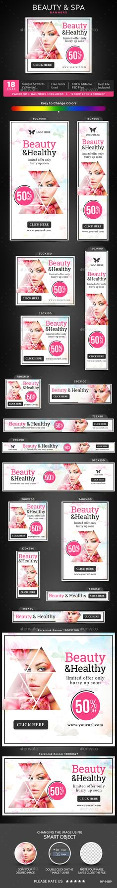 Beauty & Spa Banners Template PSD. Download here: https://graphicriver.net/item/beauty-spa-banners/17034747?ref=ksioks