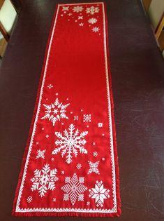 Christmas Runner, Xmas, Christmas Tree, Tree Skirts, Holiday Decor, Home Decor, Embroidery Stitches, Noel, Teal Christmas Tree
