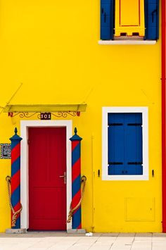 Burano in Yellow, Venice, Italy