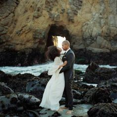 Beautiful couple and a stunning backdrop.