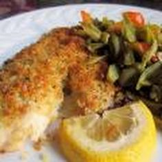 Parmesan Breadcrumb-Topped Baked Halibut