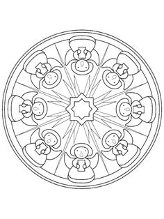 coloring page Mandala Christmas on Kids-n-Fun. Coloring pages of Mandala Christmas on Kids-n-Fun. More than coloring pages. At Kids-n-Fun you will always find the nicest coloring pages first! Batman Coloring Pages, Cool Coloring Pages, Mandala Coloring Pages, Christmas Coloring Pages, Printable Coloring Pages, Coloring Sheets, Coloring Books, Food Coloring, Christmas Mandala