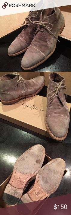Cole Haan Vincenti Boot, Men's SZ 8 Cole Haan Cap Toe Vincenti Boot, Men's SZ 8.  Genuine Bologna construction soft suede calfskin leather exterior with buttery calfskin leather interior and leather soles.  Great used Condition.  Handcrafted in Italy. Cole Haan Shoes Boots