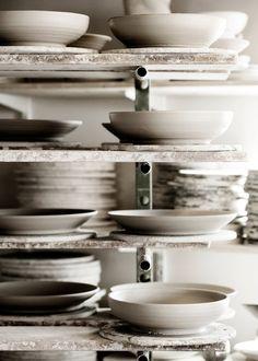 [ RUSTIC WHITE CERAMICS ] #ceramics #kitchendetails #rustic