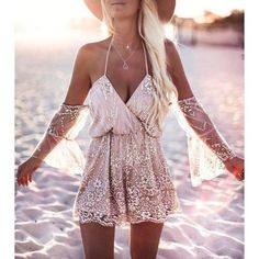 Sexy Sequined Women Backless Romper (€19) ❤ liked on Polyvore featuring jumpsuits, rompers, backless romper, sexy romper, pink sequin romper, pink romper and sequined rompers