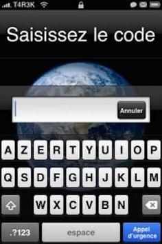 Utiliser mot de passe en lettre pour débloquer iphone