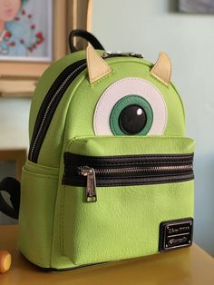 36869979a5 Monsters Inc. Mike Mini Backpack by Disney Pixar x Loungefly