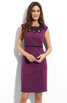 Tahari Cutout Detail Ponte Knit Sheath Dress, $138 (this would make a great TV dress)