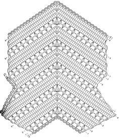 Crochet Sweater: Crochet Vest - Women's Vest - Fencing Vest ♥LCT-MRS️♥️ with diagram.Women's Vest Looks Like Fencer Vest Source: Japanese Magazineru Album Vests Hundreds of photos & chartsClick pic to get the chart for this pretty pullover ve Crochet Poncho With Sleeves, Crochet Poncho Patterns, Crochet Cardigan, Crochet Stitches, Crochet Sweaters, Tunic Pattern, Free Pattern, Crochet For Kids, Hand Crochet