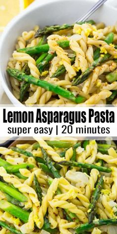 If you like pasta recipes, you will love this vegan lemon asparagus pasta! It's the ultimate comfort food and perfect for spring! One of my favorite vegan dinners right now! Find more vegan recipes at veganheaven.org!