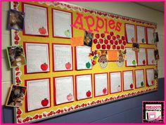 Pinkadots Elementary: A Fun Apples board using Creative Teaching Press's Fall Essentials Bulletin Board Set.