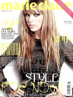 Marie Claire Greece, November 2012  Taylor Swift in Valentino Fall Winter 2012-13