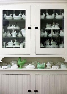 milk glass collection | Milk Glass Collection... correction, Milk Glass CHICKEN collection ...