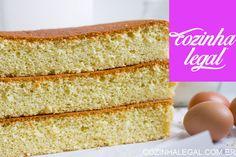 Pão de ló com 3 ingredientes • Cozinha Legal