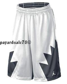 MEN'S SIZE MEDIUM NIKE RETRO 5 BASKETBALL SHORTS BLACK & WHITE JORDAN #Nike #Athletic