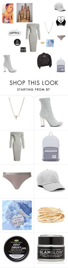 """""""Grey goddess apparel"""" by taylortibbs ❤ liked on Polyvore featuring Nadri, Sans Souci, Herschel Supply Co., Calvin Klein Underwear, Topman, Forever 21, GlamGlow and yourlooksaredisrtactionme"""
