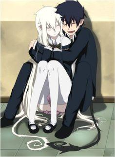 Blue Exorcist Rin X Aura - Bing images Rin Okumura, Rin And Shiemi, Ao No Exorcist, Blue Exorcist Anime, Anime Love Couple, Cute Anime Couples, Anime Lindo, Demon Girl, Anime Demon Boy