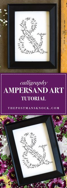 In this short tutorial, you'll learn how to make a beautiful, personal piece of ampersand art using your calligraphy or hand-lettering skills!