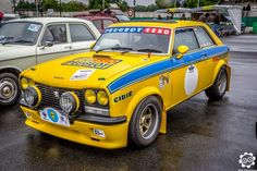 # 304 # CoupéS in # Montlhéry for the Photo of Julien. Peugeot 304, Auto Peugeot, Rally Raid, French Vintage, Touring, Vintage Cars, Automobile, Monster Trucks, France