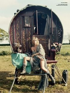 Kate Moss And The Gypsies In V Magazine 61   #hippie  #bohemian #gypsy