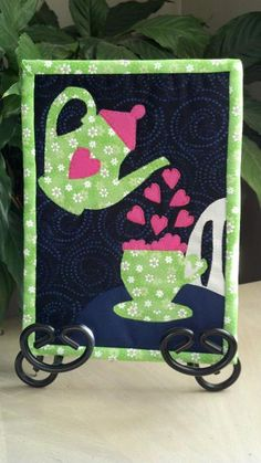 - Cuppa Love Mug Rug. This Designer is so clever and has many designs, check her out on Crafty.