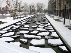 Artificial Urban Glaciers In Enschede   To The Delight Of Enschede  Residents, The Small Stream, Which Gives Its Name To The Roombeek Street  And Has In The ...