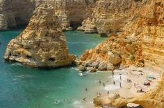 Praia da Marinha in Algarve, Portugal is one of the 18 Best Beaches in Europe. Best Beaches In Europe, Places In Europe, Places To See, Faro Portugal, Spain And Portugal, Algarve, Portugal Holidays, Travel Reviews, Best Vacations