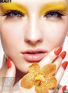 Bold yellow makeup look with long and lush flattering lashes  #purpinspiration