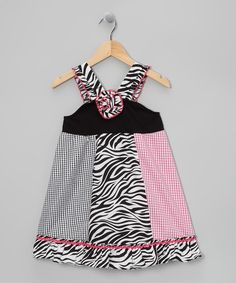 Take a look at this Black & Pink Zebra Dress - Toddler & Girls by Sweet Heart Rose on #zulily today!