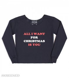 all i want for christmas #Skreened #christmas #croppedsweater