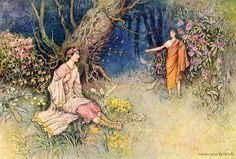 The Meeting in the Wood by Warwick Goble