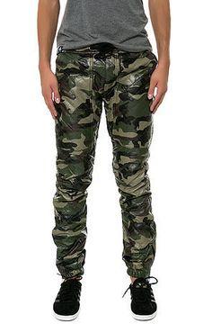 The Diamond PU Jogger Pants in Camo KITE - vpstyles #mens #mensfashion #menpants