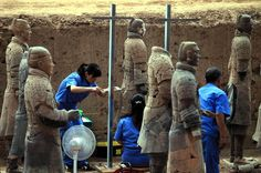Plucked from the Earth after 2,000 years: Archaeologists unveil 120 stunning new figures after third dig at terracotta warriors' site
