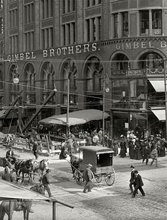 Philly ~ Gimbel's department store, Philadelphia 1905. My favorite of all time department stores, still miss it!