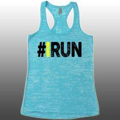 Hashtag I Run Tank. IRun Tank Top. Marathon Relay 5K Tank. Half Marathon Tank. I Love Running. Burnout Workout Fitness Tank. Running Tank. by CuteBuffy on Etsy https://www.etsy.com/listing/234574500/hashtag-i-run-tank-irun-tank-top