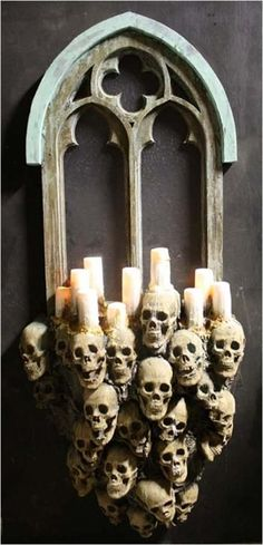 The Gothic Window is a Halloween Decoration offered by the experts at the Horror Dome. Find this and more Halloween Decorations here! Halloween Designs, Spooky Halloween, Gothic Halloween Decorations, Halloween Haunted Houses, Halloween Projects, Holidays Halloween, Diy Halloween Props, Haunted Diy, Halloween 2018