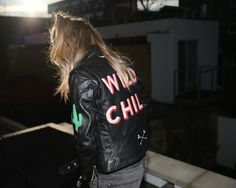 Edgy Outfit Essentials: Leather jacket // Hand painted leather jacket by London based designer Laurie Lee Burley - Laurie Lee Leather Painted Leather Jacket, Vintage Leather Jacket, Black Leather, Outfit Essentials, Edgy Outfits, Outfits For Teens, Fashion Outfits, Summer Outfits, Fashion Tips